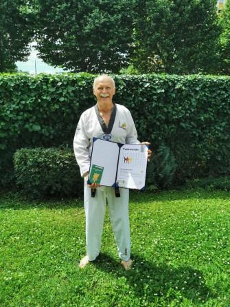 Karlheinz Henn Danprüfung Taekwondo Heppenheim Bensheim Bergstraße